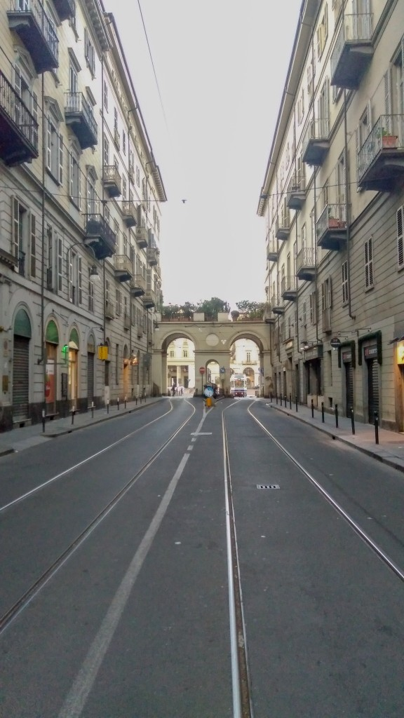 Dans les grandes avenues de Turin