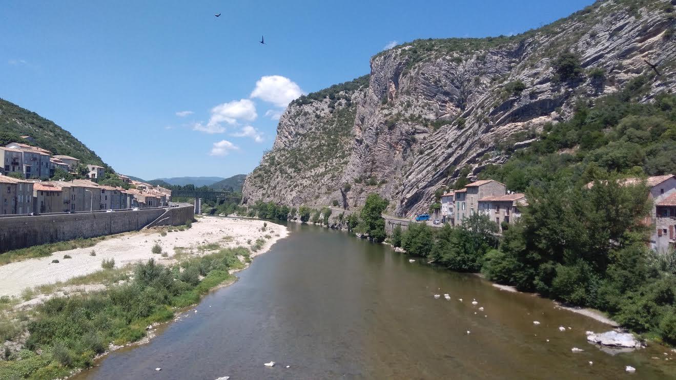Depuis le Pont du Gard