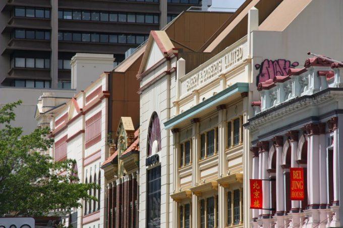 Dans le vieux Brisbane, devanture de maison