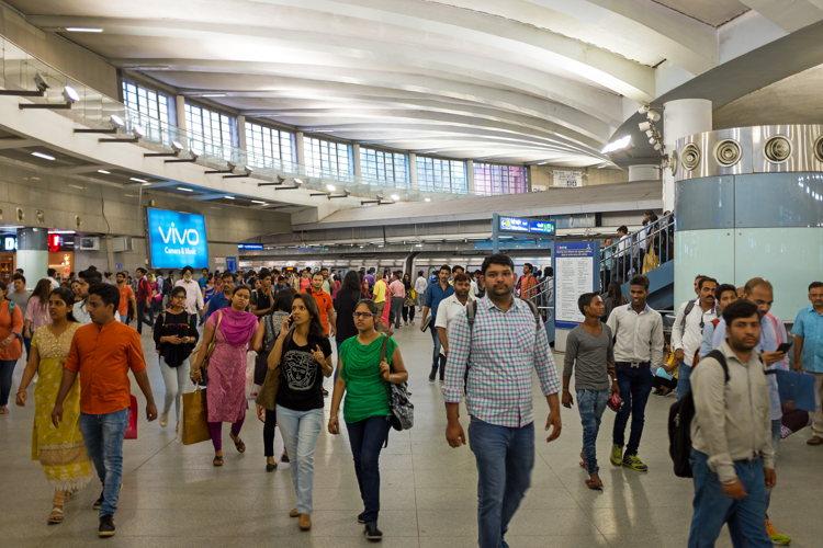 Dans les centres commerciaux de New Delhi