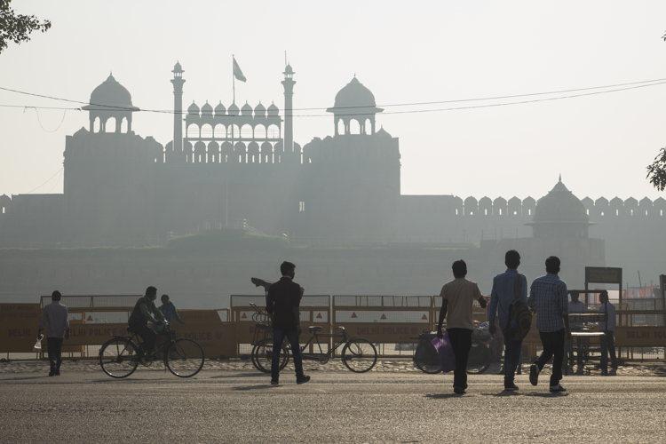 Coucher de soleil sur New Delhi