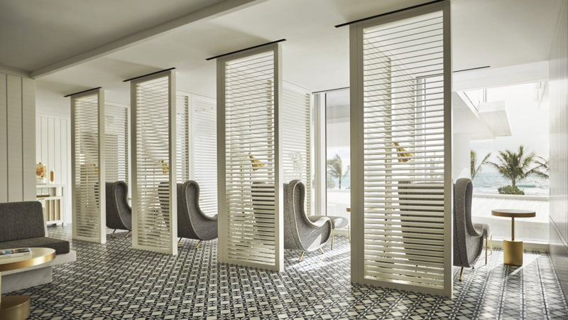 Un intérieur aéré et design au spa Four Seasons à Miami