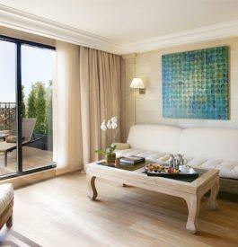 Dans la chambre de l'hôtel Majestic à Barcelone