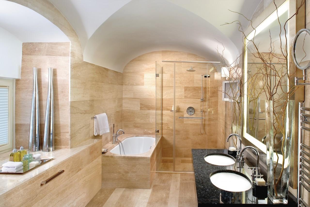 Dans la salle de bain du Mandarin Oriental à Prague