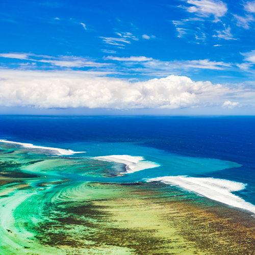 Les récifs de l'île Maurice
