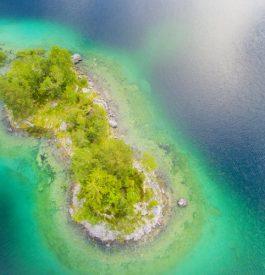 Hydravion sur l'île Maurice