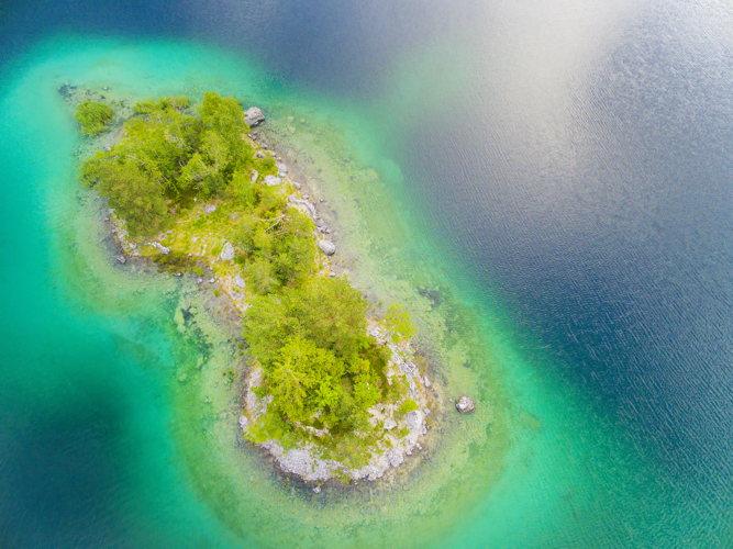 Un confetti d'île dans l'océan à Maurice