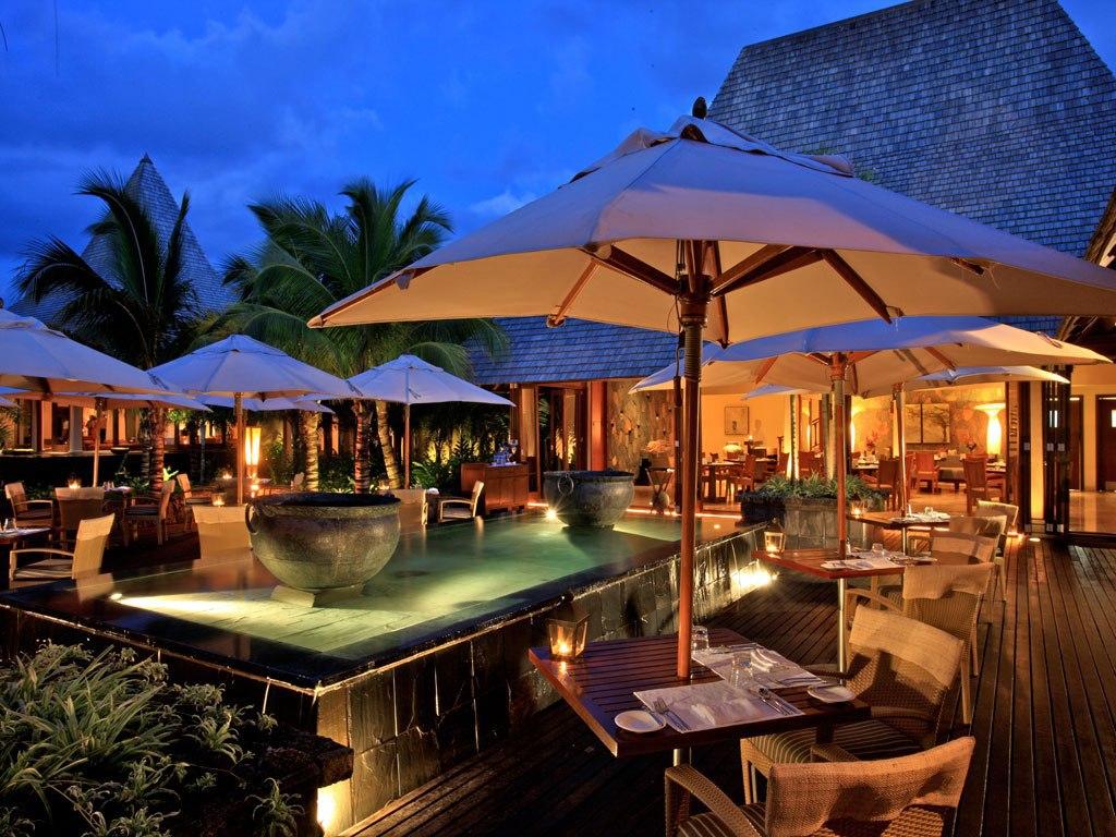 Le restaurant du Shanti Hôtel à L'île Maurice