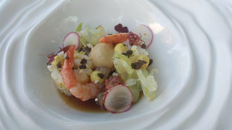 Un repas par Christophe Schmitt à l'Almandin à Canet en Roussillon