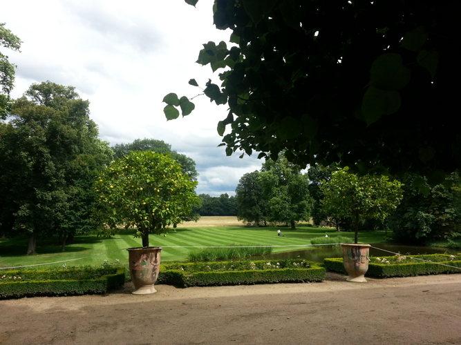 Les jardins du château à Parentignat