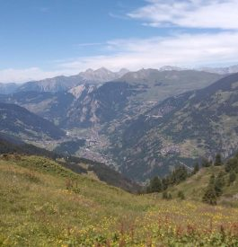 Vue sur la vallée à Verbier