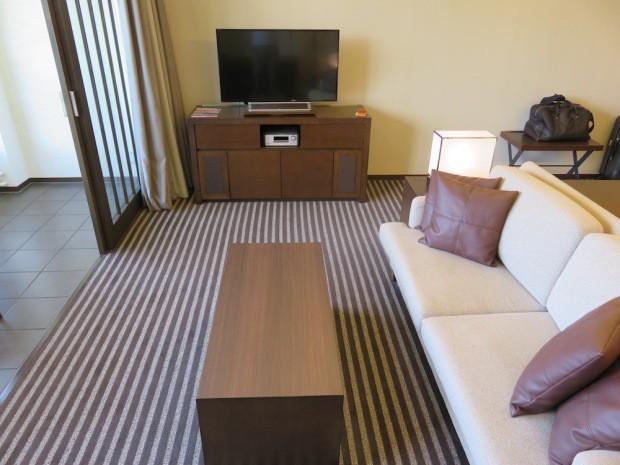 Le salon de ma chambre à Hakone