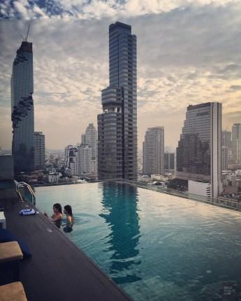 La piscine de l'Amara Hôtel à Bangkok
