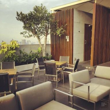 La terrasse de l'hôtel Amara à Bangkok