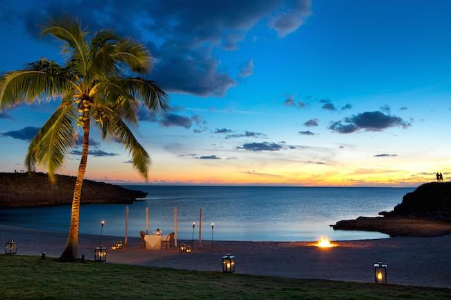 Coucher de soleil au Cove Eleuthera aux Bahamas