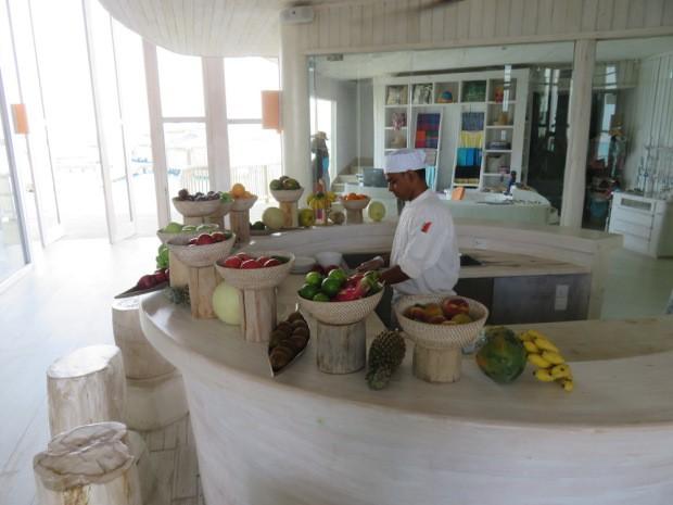 Petit déjeuner au Soneva Jani aux Maldives