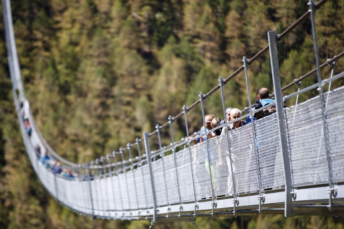 Le plus long pont suspendu du monde est ouvert. DR : Valentin Flauraud