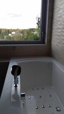Dans la salle de bain du cocon VIP