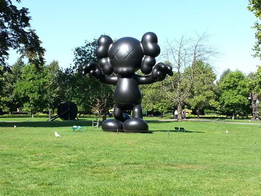 Dans Regent parc... à Londres