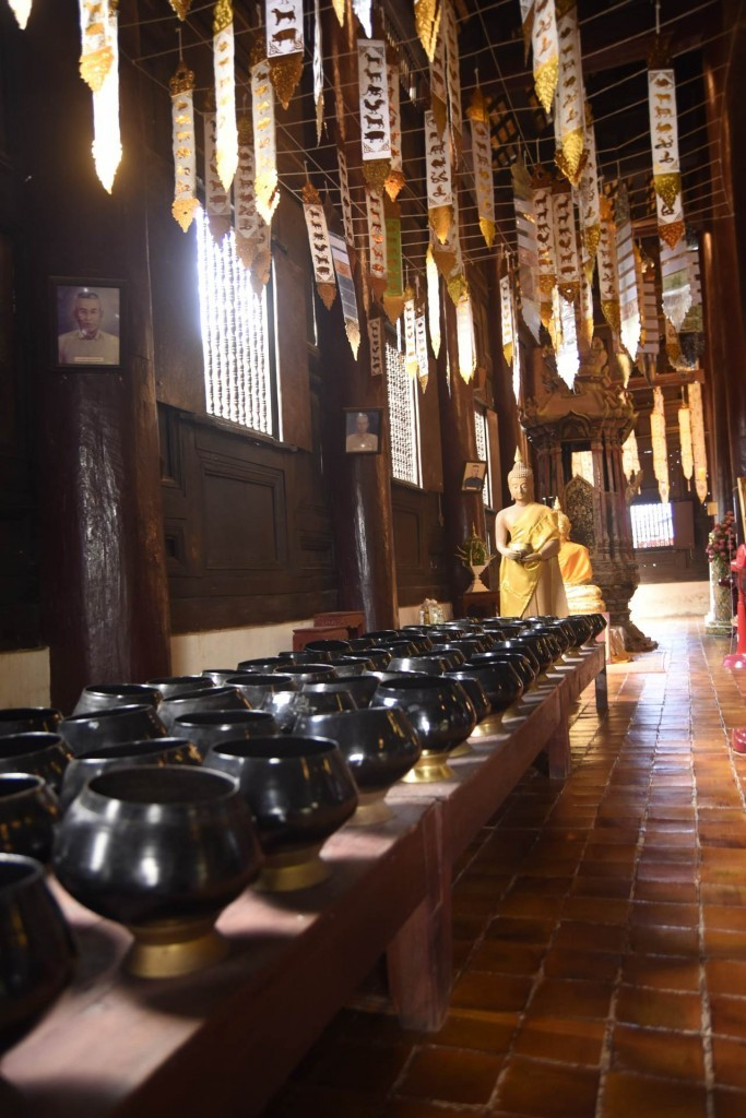 Dans un temple à Chiang Mai