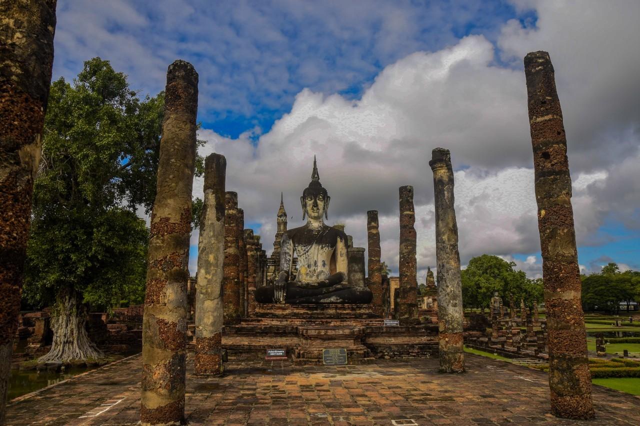 Découvrir le vieux palais royal à Sukkothaï