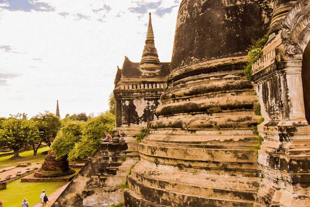 Dans les ruines d'un monastère khmer