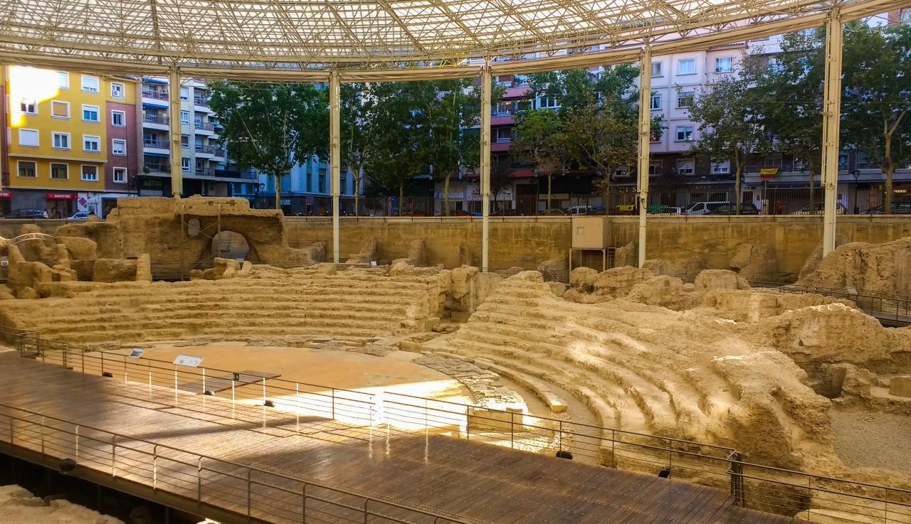 Théâtre romain enservelie sous Saragosse découvert récemment