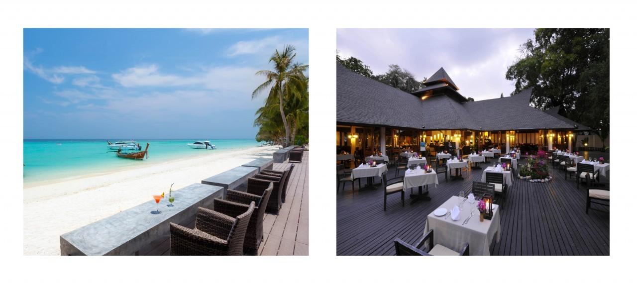 Sur la plage au Holiday Inn à Koh Phi Phi