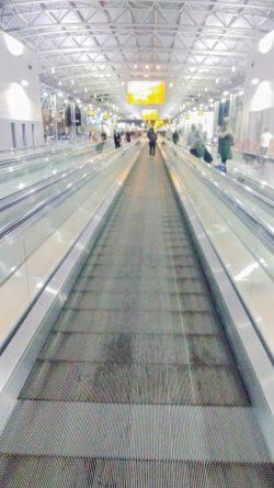 A l'aéroport à Bruxelles