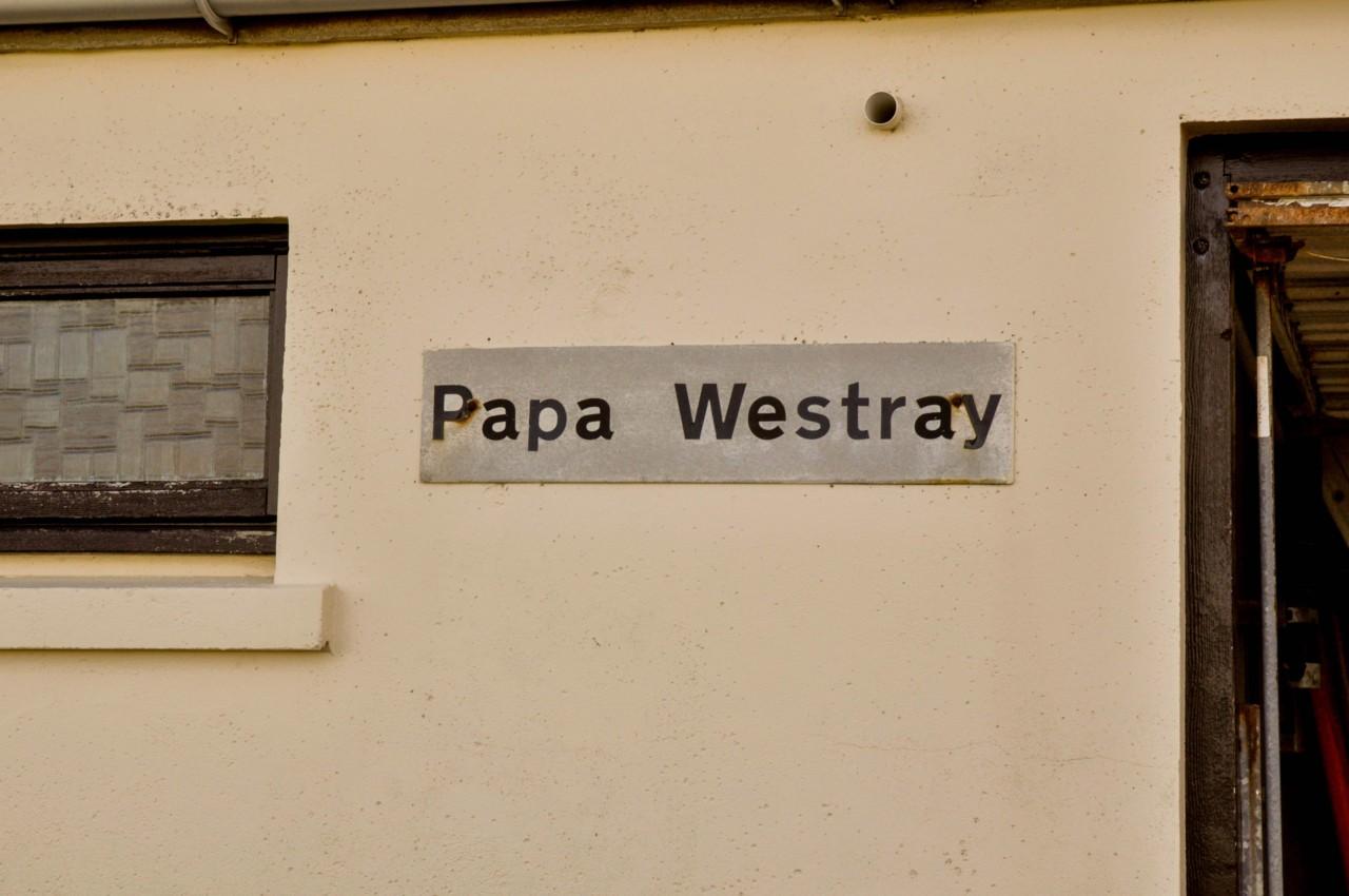 Bien arrivée à Papa Westray en Ecosse