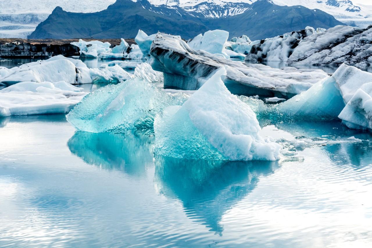 Au lac Jokulsarlon en Islande