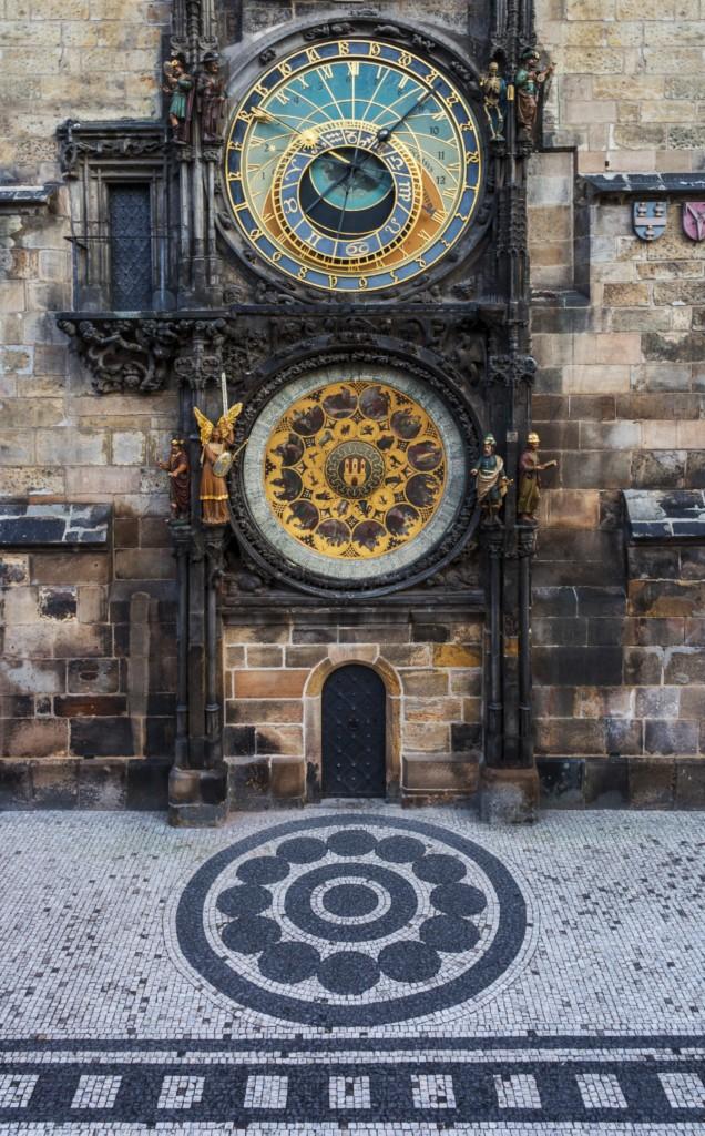 L'horloge astronomique de Prague de plein pied