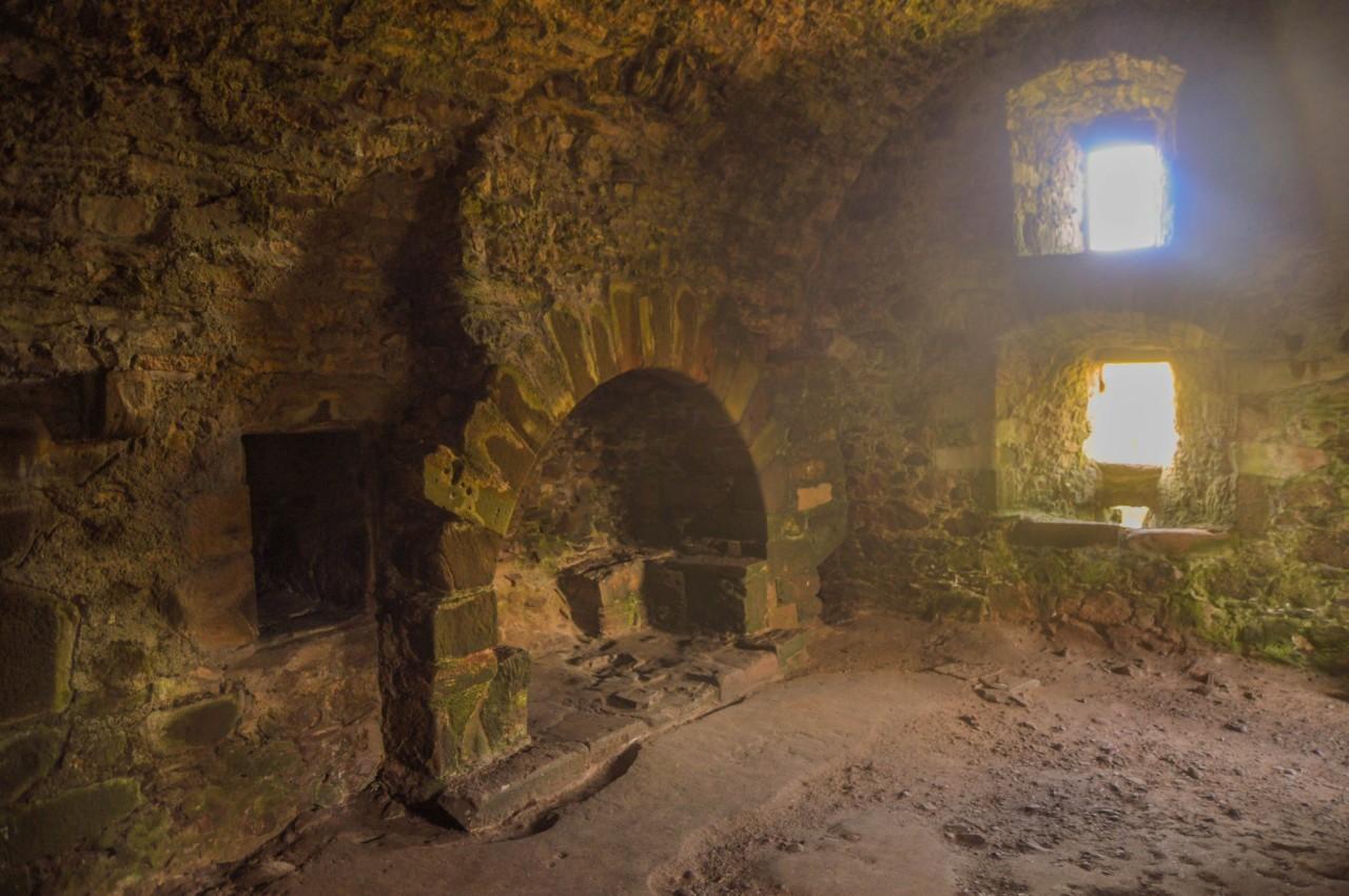 A l'intérieur de Dunnotar Castle