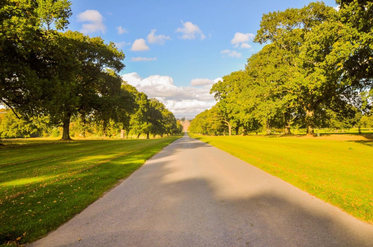 Dans le parc du Glamis Castle
