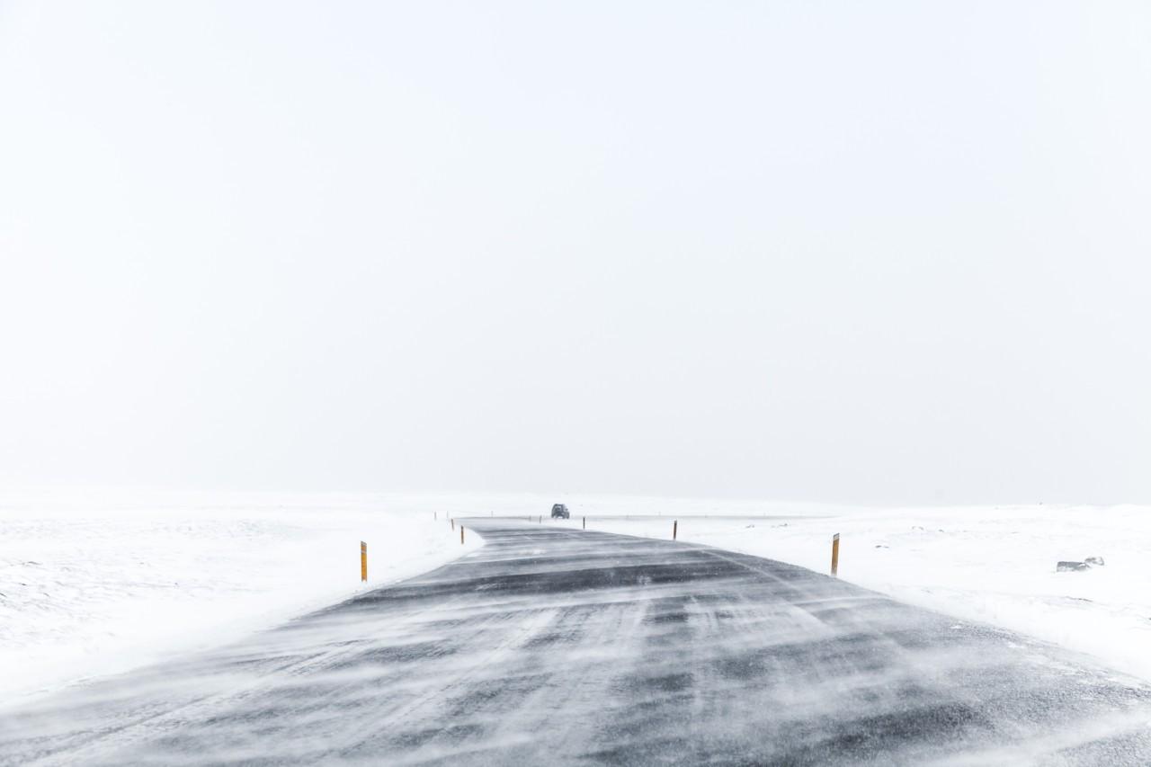 Sur la route Vers les fjords de l'Islande