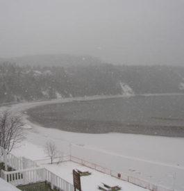 Direction Tadoussac, après Québec City vue sur le lac