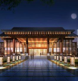 Voyager à l'hôtel qui face à la grande Muraille de Chine