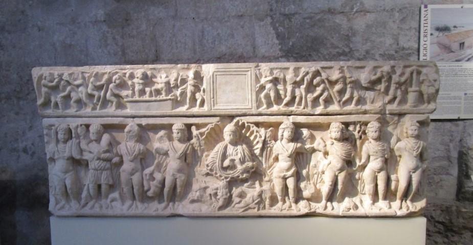 Fresque archéologique à Girona