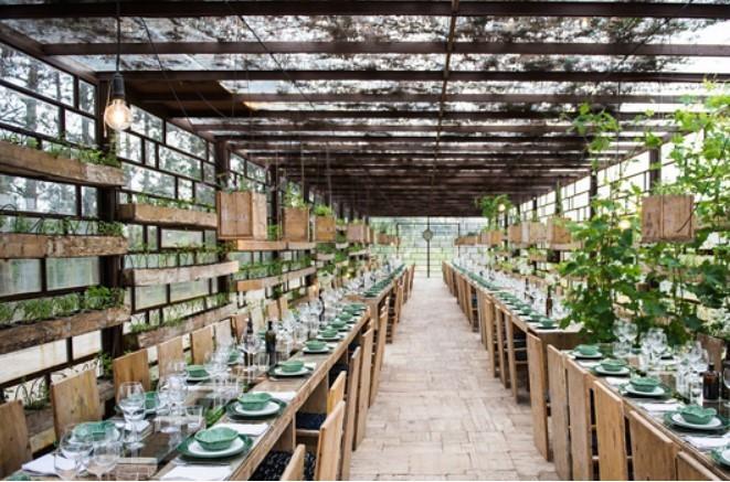 Le restaurant de l'hôtel Rio de Prado au Portugal