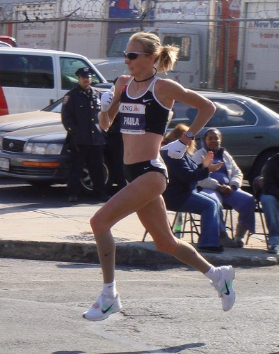 Paula Radcliffe, victorieuse du marathon New York en 2007