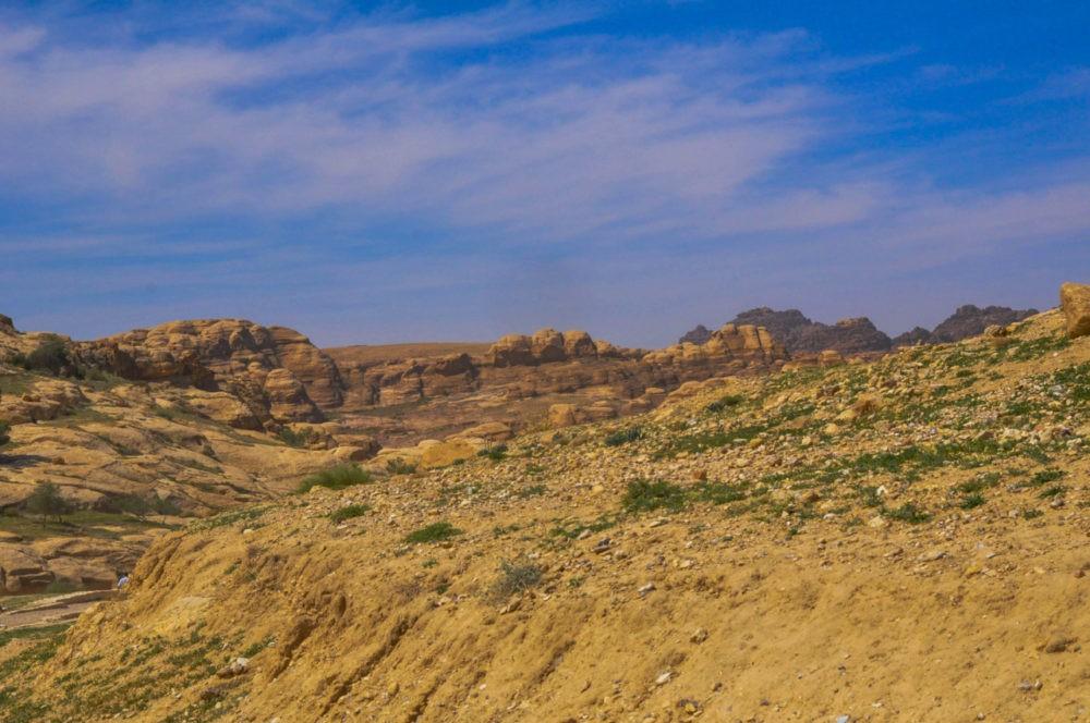 Le paysage naturel à Pétra