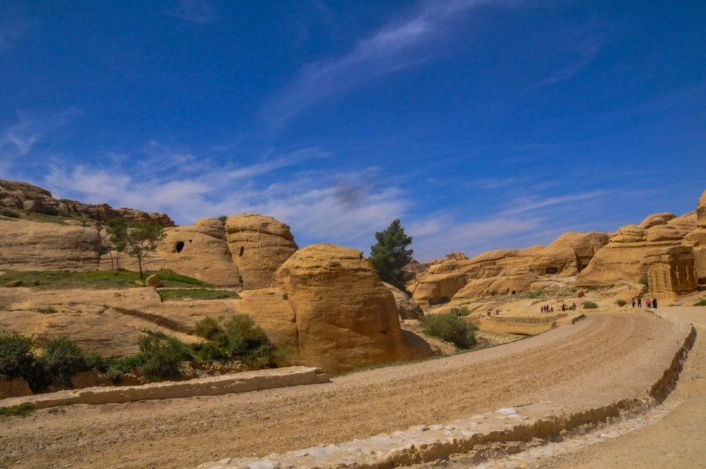 Paysages grandioses à Pétra en Jordanie