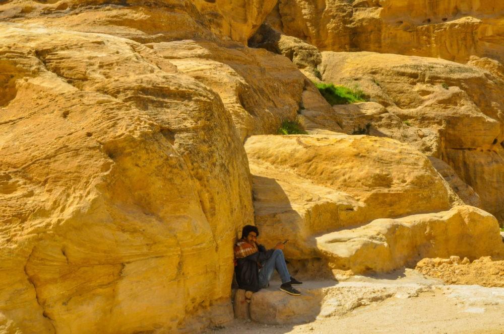 Une pause s'impose à Pétra en Jordanie