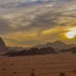 Sur la route vers Aqaba en Jordanie