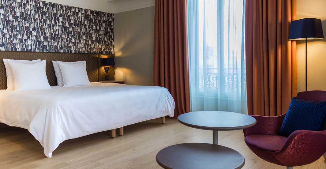 Dans la chambre de l'hôtel Océania à Montpellier