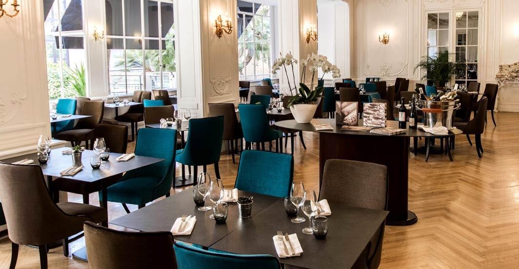 Dans le restaurant de l'hôtel Océania à Montpellier