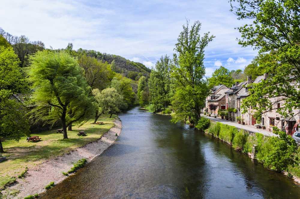 Dans la vallée du lot en Aveyron