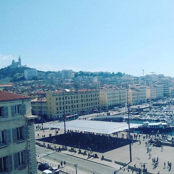 La vue depuis notre chambre à l'hôtel Oceania à Marseille
