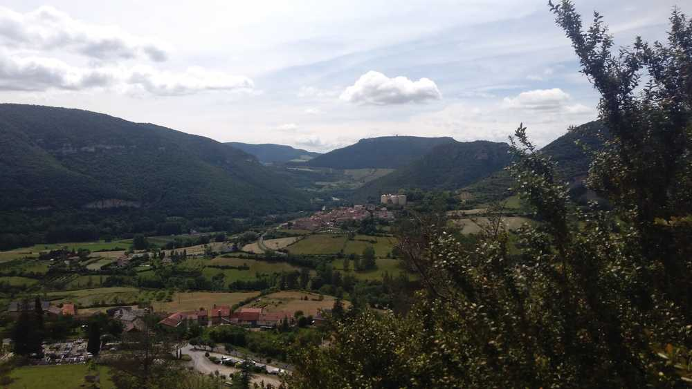Vue depuis la via ferrata à Liaucouls en Aveyron