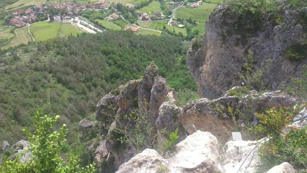 C'est une des via ferrata les plus belles de France à Liaujouls
